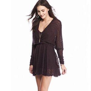 NWT Free People Snug Bug Wrap Sweater Dress